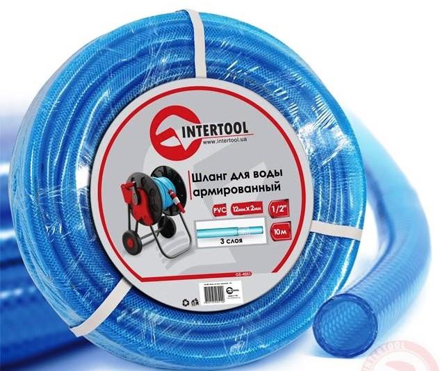 """Шланг поливочный """"Intertool"""" синий 3-х слойный арт. GE-4051 сечение 1/2"""", длина 10 м"""
