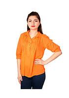 Рубашка женская оранжевая