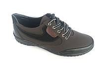 Туфли спортивный на шнурках мужские коричневый  Pilot - T-20