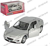 Машинка KT 5071 W, Mazda RX-8, Kinsmart, металл, инерция, 1:36, 12,5 см, открываются двери, резиновые покрышки