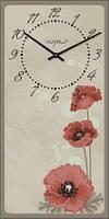 Часы настенные из стекла - маки