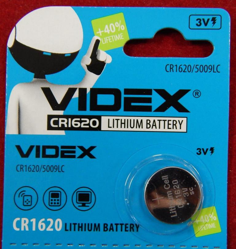 Батарейка для часов VIDEX CRI620