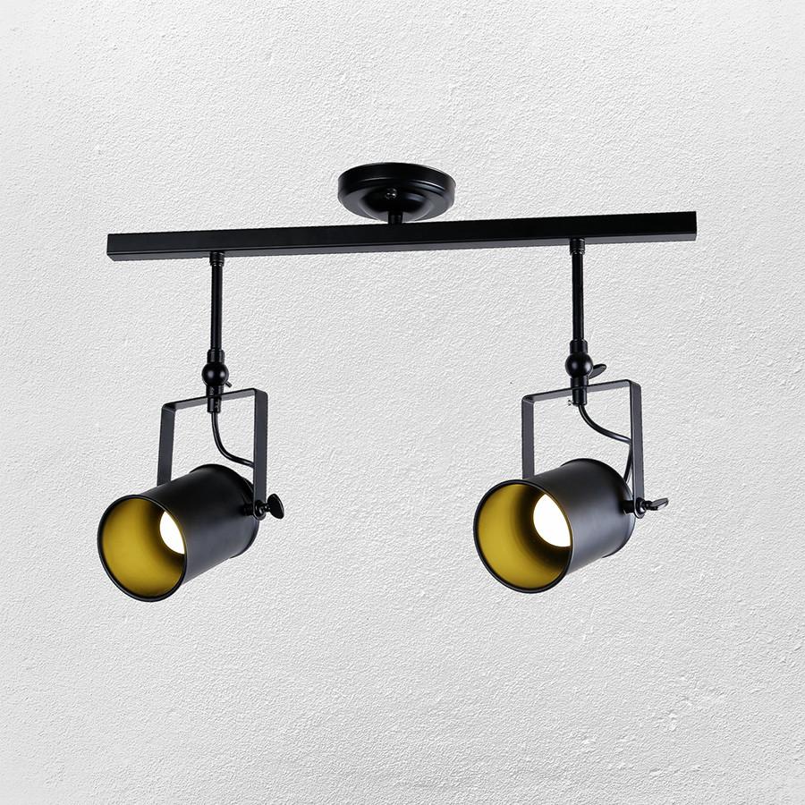 Прожектора потолочные в стиле лофт 61-SD02-2 BK черный