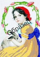 Схема для вышивки бисером «Девочка с кроликом»