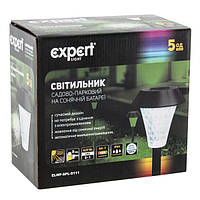 Садовый светильник на солнечных батареях EXPERT  ELWF-SPL-S111( в наборе 5 шт.) , фото 1