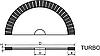 "Алмазный круг отрезной для сухой резки (Тип 1A1R-C ""TURBO"") D-200мм*T-1.6мм*X-8.5мм"