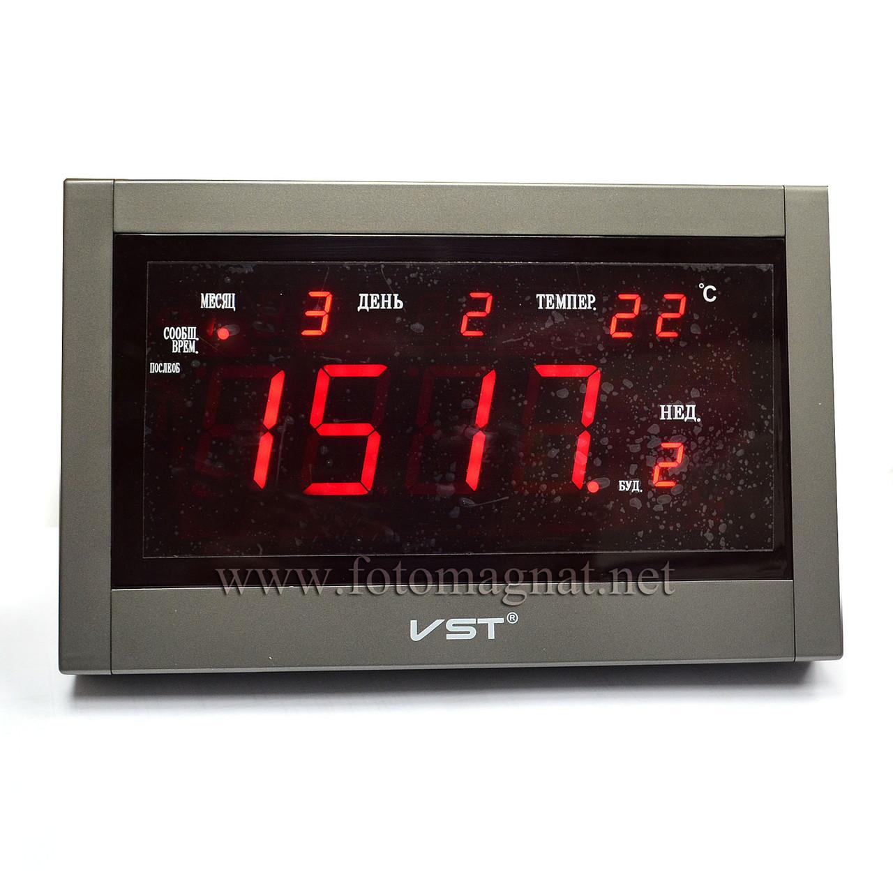 Говорящие сетевые часы VST 771 Т-1 — Настольное и настенное крепление
