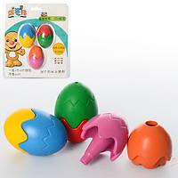 Мелки пастельные MK 0983 (32шт) яйцо, 3 шт(цвета), в слюде, 15,5-18-4см
