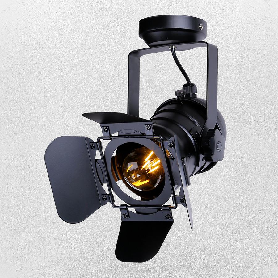 Прожектор потолочный  в стиле лофт  52-20 BK