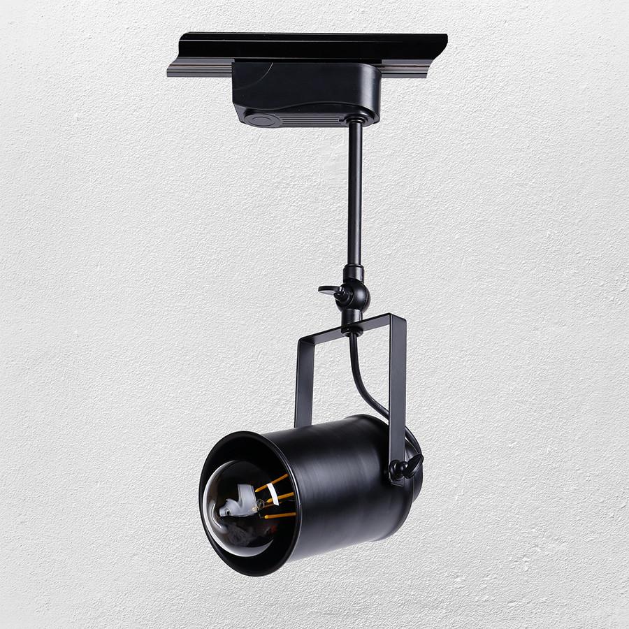 Прожектор на треке  в стиле лофт ( модель  52-1207B-1 BK)