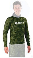 Лайкровая камуфляжная футболка для подводной охоты Mares Rash Guard Camo Green