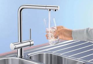 """Смесители с подключением фильтрованной воды """"2 в 1"""""""