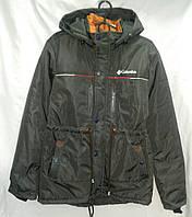 Куртка  подросток парка для мальчика 10-14 лет,серая