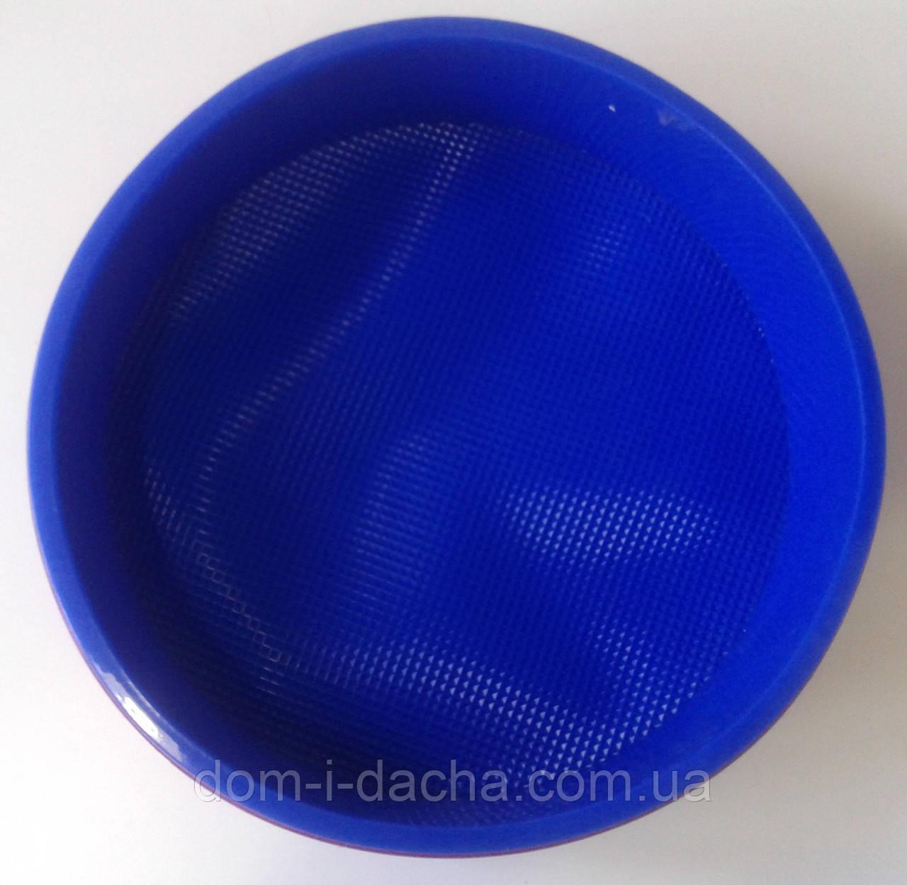 Силиконовая форма для пирога круглая с рифленым дном