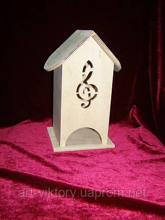 Коробка для хранения чайных пакетиков Скрипичный ключ (10 х 10 х 23 см), фото 2