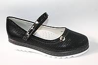 Модные туфли для девочек. Детская обувь оптом от производителя Yalike 60-3 Black (8пар, 30-37)
