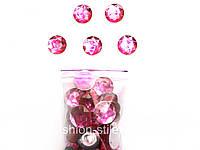 Камни пришивные, розовые.50шт в упак.(диаметр 22мм)