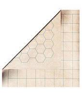 Двустороннее игровое поле для ролевых игр (квадрат/гекс) 88х122 см (Megamat Double-Sided 1'' Squares/Hexes)