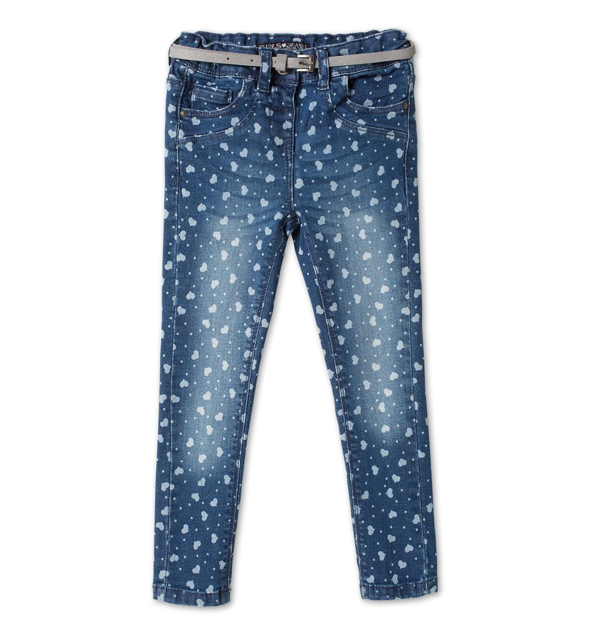 Детские джинсы skinny на девочку в сердечки C&A Германия Размер 116