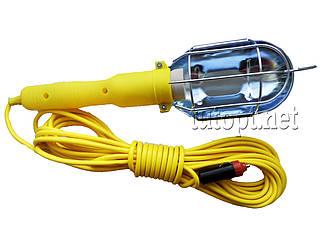 Переносная лампа с удлинителем длина - 10 метров под Е27 лампочку в авто прикуриватель