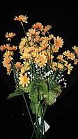 Ромашка разных цветов в букетиках (искусственные цветы), выс. 36 см., 100 шт., 3.24 гр./шт.
