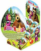 Яйцо шоколадное Маша и Медведь, 24 шт