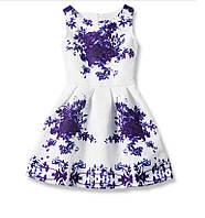 Платье для девочки цветы (фиолет)