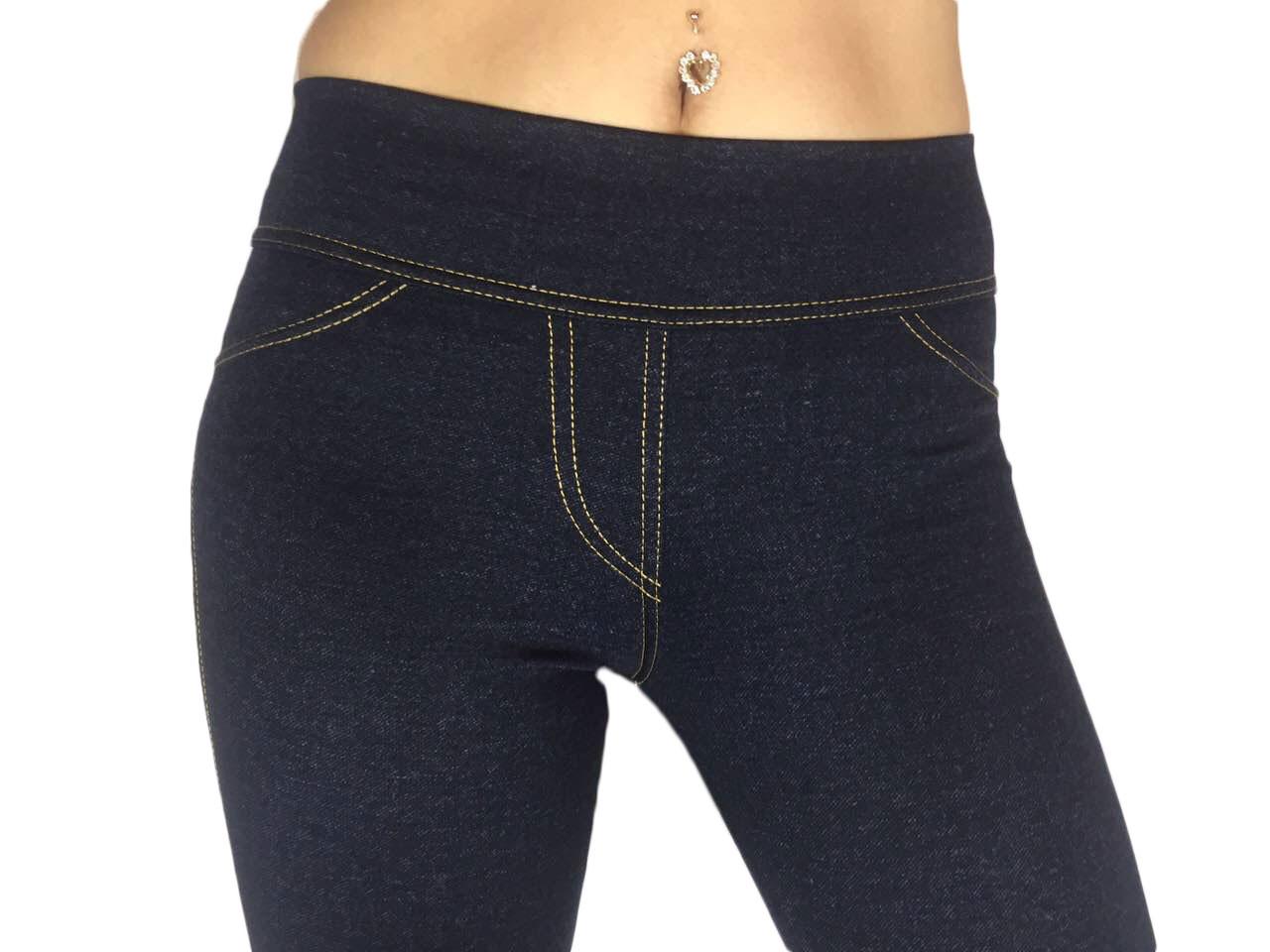 Женские лосины под джинсы темно-синие