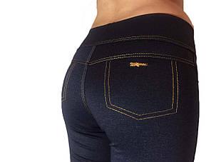 Женские лосины под джинсы темно-синие, фото 2