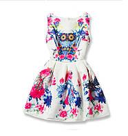 Нарядное платье для девочки Сова