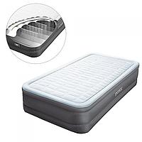 Надувная односпальная кровать Intex 64482 со встроенным насосом 220В,191-99-46см