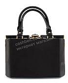 Каркасная замшевая стильная прочная элегантная женская сумка с лаковыми вставками SULIYA art. 827 черный цвет