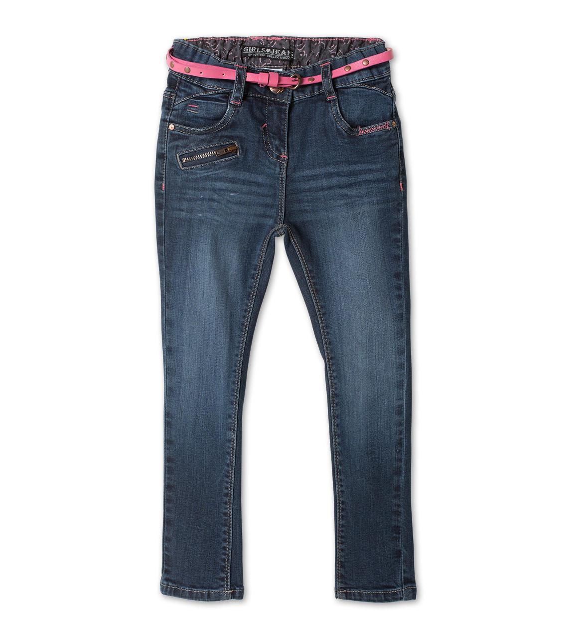Детские джинсы узкачи на девочку с поясом C&A Германия Размер 104