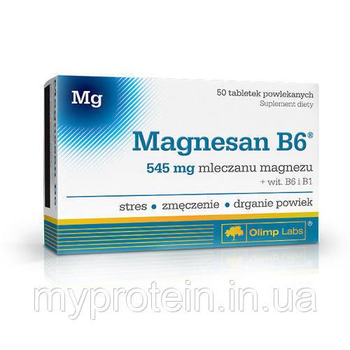 "OLIMPМагний лактат Витамин B6 Magnesan B6 (50 tab) -  Интернет - магазин ""MyProtein"" в Ржищеве"
