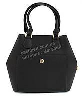Каркасная оригинальная стильная прочная элегантная женская сумка ELEV EVER art. M9523 черный