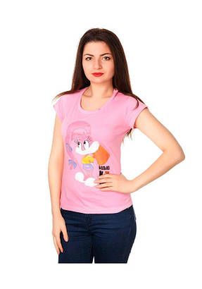 Футболка женская Молоток розовый 100% х/б