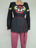 Туника с вышивкой Колоски женская и для девушек , модель 713