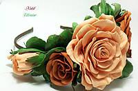 Обруч розы из фоамирана Парижанка
