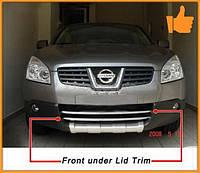Накладки на решетку бампера Nissan Qashqai 07-10