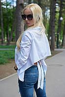 Рубашка женская с открытой спиной белая 233