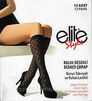 Гольфы женские капрон фантазийные Elite Style, Турция, бежевые, Pergola, 03762