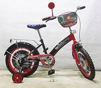 Велосипед TILLY 16 T-21627 Пожежник, black + red
