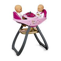 Стульчик для кормления кукол близнецов Baby Nurse Gold Edition Smoby 220315