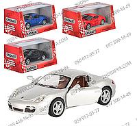 Машинка KT 5307 W, Porsche Cayman S, Kinsmart, металл, инерция, открываются двери, резиновые колеса, 13 см