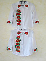 Рубашка Вышиванка для девочки (от 4 до 10 лет)