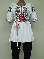 Туника с вышивкой женская Роза Красная