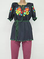 Туника с вышивкой Маки женская