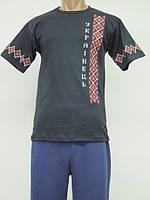 Футболка с вышивкой мужская Украинец, модель 636