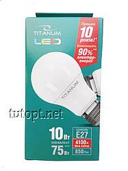 Лампа светодиодная Titanum А60 10W E27 4100K 220V белый свет