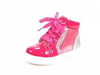 Детские модные ботинки J&G: A-2556 Малиновый,р.21,24